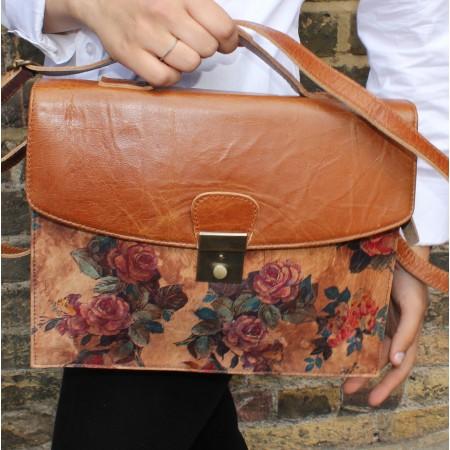 American Funky Bag Tan Leather